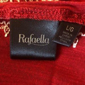 Rafaella Tops - Red Rafaela Boho-Chic Shirt